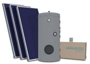 Galmet kolektory słoneczne płaskie do cwu - 2 kolektory, 200 litrów zbiornik