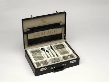 Gerlach Sztućce - Antica 04, mat/złoto, zestaw 68 sztuk, walizka 04/MZ