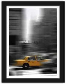 Feeby Żółta taksówka, Obrazy w ramie - Czarny
