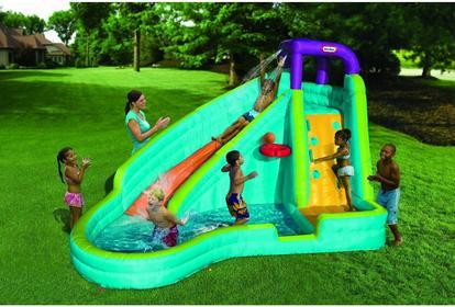 Little Tikes Mini Park Wodny, nadmuchiwany plac zabaw ze zjeżdzalnią 621437