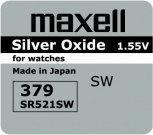 Maxell bateria srebrowa mini 379 / SR 521 SW / G0
