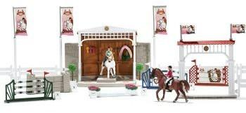 Schleich Horse Club Buildings Riding centre with rider horses and accessories 42344 42344