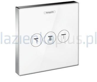 Hansgrohe ShowerSelect Glass zawór dla 3 odbiorników biały/chrom 15736400
