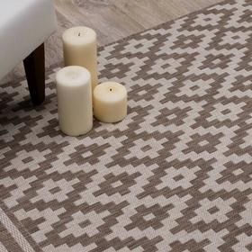 Dekoria Dywan Modern Rhombs mink/wool 160x230cm, 160x230cm,