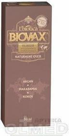 Lbiotica Biovax Eliksir wygładzająco nawilżający Naturalne Oleje Argan Makadamia Kokos 50ml