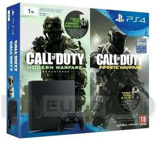 Sony PlayStation 4 Slim 1 TB Czarny + Call Of Duty Bundle