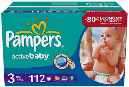 Pampers Active Baby 3 Midi 112 szt.