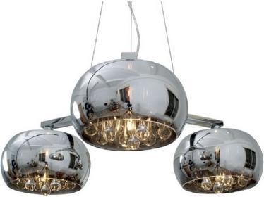Zuma Line Nowoczesna LAMPA wisząca OPRAWA Żyrandol DO salonu CRYSTAL P0076-03R Chrom