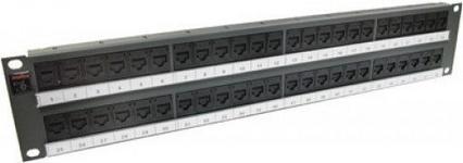 Molex Panel 19 cali 48xRJ45 DG+, 568A/B, UTP, PowerCat 6, 2U, Grafitowy