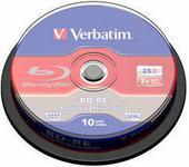 VERBATIM BD-RE Blu-Ray 25GB 2x (Szpula 10 43694