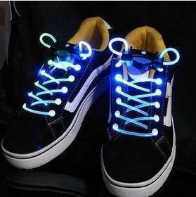 Świecące LED sznurówki - niebieskie