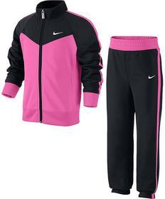 Nike Dres Dziewczęcy Dres Dziewczęcy T40 T Track Suit LG - black/pink pow/black/white