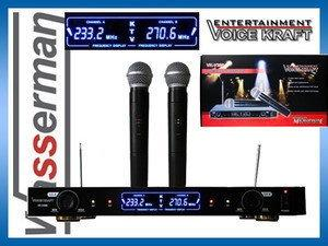 Voice Kraft Profesjonalny zestaw mikrofonów bezprzewodowych VK-V380