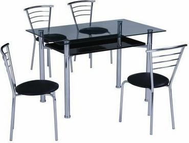 Stół szklany , Esta czarny(ESTAC