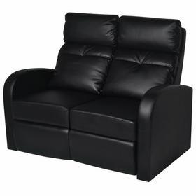 vidaXL Fotele kinowe czarna eko skóra dla 2 osób
