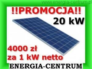 Q.CELLS PROMOCJA! 4000 zł/1 kW netto z montażem dach skośny PANELE FOTOWOLTAICZNE 20 kW SŁONECZNE 4000zł_netto_20kW