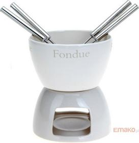 Excellent Houseware EH CZEKOLADOWE FONDUE - ceramiczny ZESTAW dla 4 osób K/12, 3