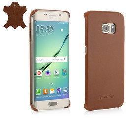 StilGut Obudowa Samsung Galaxy S6 Edge - Cover, cognac