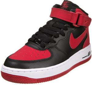 Nike Sportswear AIR FORCE 1 MID Tenisówki i Trampki wysokie black/gym red/white