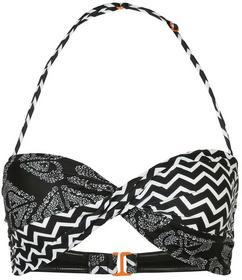Roxy biustonosz plażowy interweave logo combo true czarny ERJX303032