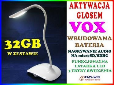 Podsłuch GSM W KSZTAŁCIE STOŁOWEJ LAMPKI NOCNEJ AKTYWACJA DŹWIĘKIEM VOX DYKTAFON