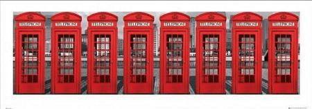 London Phoneboxes - Obraz, reprodukcja