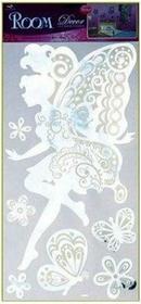 Lustrzana wróżka i motyle - dekoracje ścienne