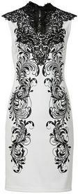 Bonprix Sukienka kremowo-czarny 925799