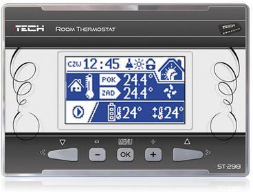Tech Regulator pokojowy ST-298 z komunikacją RS ST-298