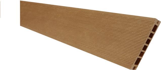 Deska tarasowa VIVA - kompozytowa ryflowana szczotkowana 24x145x2400mm Teak