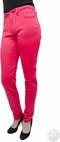 Vavell Różowe spodnie jeansy rurki z wyższym stanem - RÓŻOWY