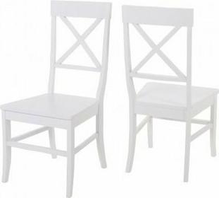 Actona Romantic Białe drewniane Krzesło do jadalni 0000038240