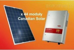 Canadian Solar Zestaw ogniw 10.56kW CS6P-240P + dwa falowniki Fronius IG TL 5.0