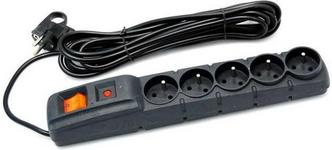 Acar F5 listwa zasilajaco-filtrujaca czarna3 m ( F5-3M-CZARNY)