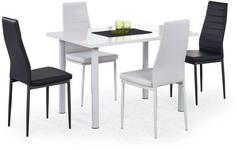 Halmar Zestaw: stół Adonis (120x80x76 cm) i 4 krzesła K70