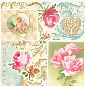 Serwetki do decoupage 33x33cm - Roses of Love