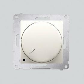 Ściemniacz obrotowy dwubiegunowy do LED ściemnialnych 230V 5-215W Krem * - Konta