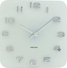 Karlsson Zegar Vintage white glass KA4399