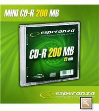 Esperanza CD-R MINI DISC 200MB / 23min.8cm slim 1szt.