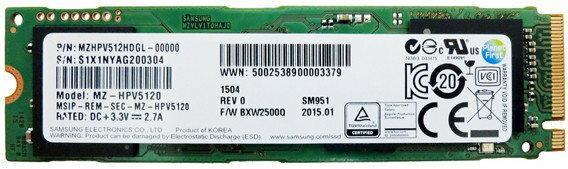 Samsung SM951 MZHPV512HDGL