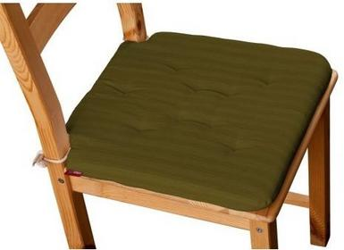 Dekoria Siedzisko na krzesło Olek na krzesło Taffeta oliwkowy w delikatne prążki
