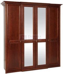 Bogatti Szafa 4 drzwiowa z lustrem Venezia olcha