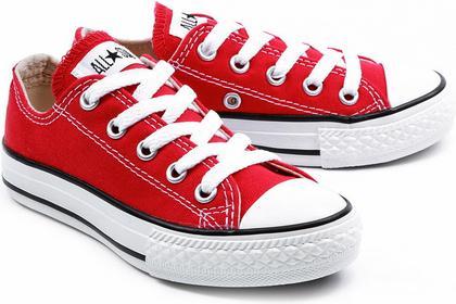 Converse Chuck Taylor All Star Ox - Czerwone Canvasowe Trampki Dziecięce - 3J236