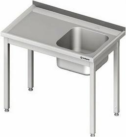 Stalgast Stół ze zlewem jednokomorowym (P) bez półki 1000x600x850 mm 980646100