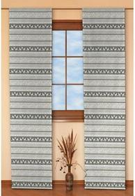 Dekoria Panel 2 sztuki Christmas szaro-beżowe pasy w renifery
