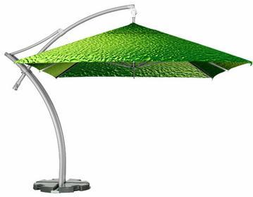 LITEX Promo Sp. z o.o. Parasol ogrodowy Ibiza Quattro 3,5x3,5m Bąbelki Limonka z