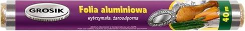 GROSIK Folia Aluminiowa 40 m
