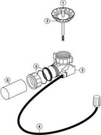 Blanco Korek automatyczny Zestaw korka automatycznego bez pokrętła