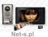 Eura-Tech WIDEODOMOFON VDP-41A5 2EASY kolor 7 dotykowy ekran pamięć obrazów