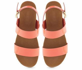 Różowe sandały Daria pomarańczowy